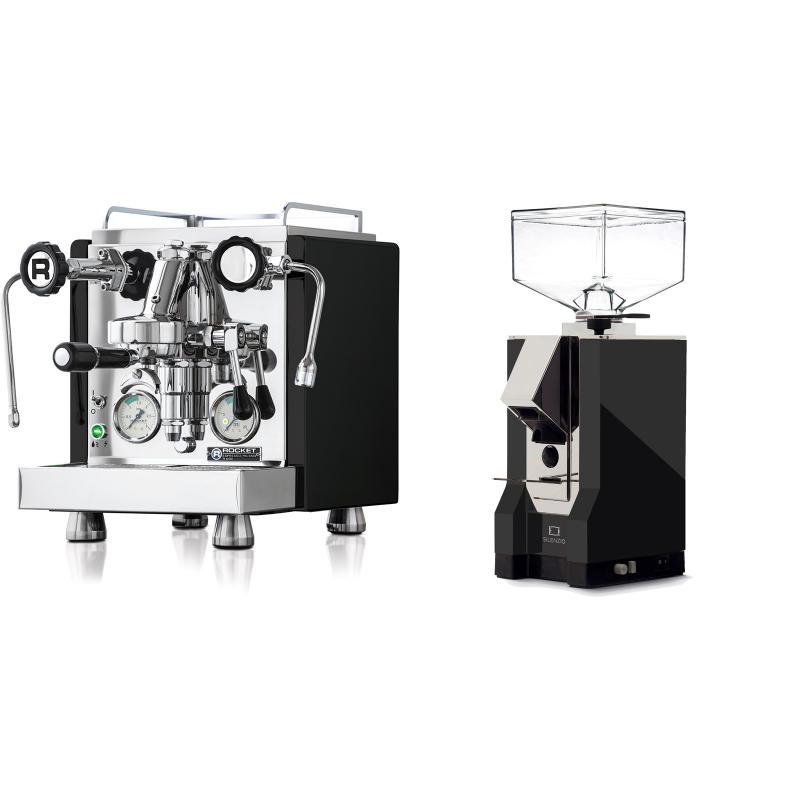 Rocket Espresso R 60V, černá + Eureka Mignon Silenzio, CR black