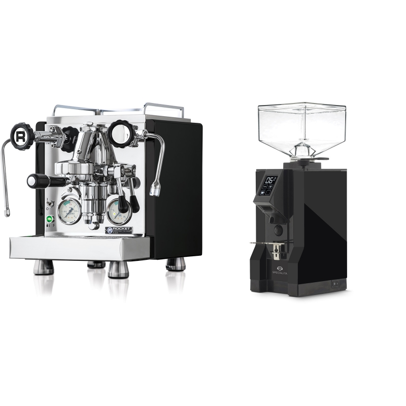 Rocket Espresso R 60V, černá + Eureka Mignon Specialita, BL black