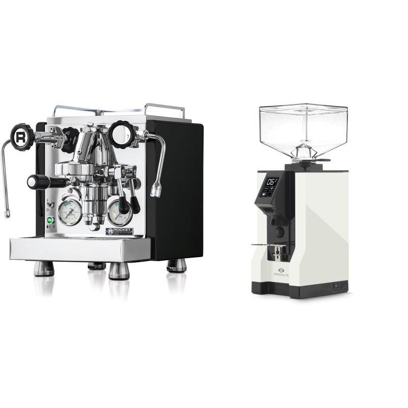 Rocket Espresso R 60V, černá + Eureka Mignon Specialita, BL white