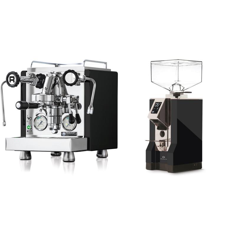 Rocket Espresso R 60V, černá + Eureka Mignon Specialita, CR black