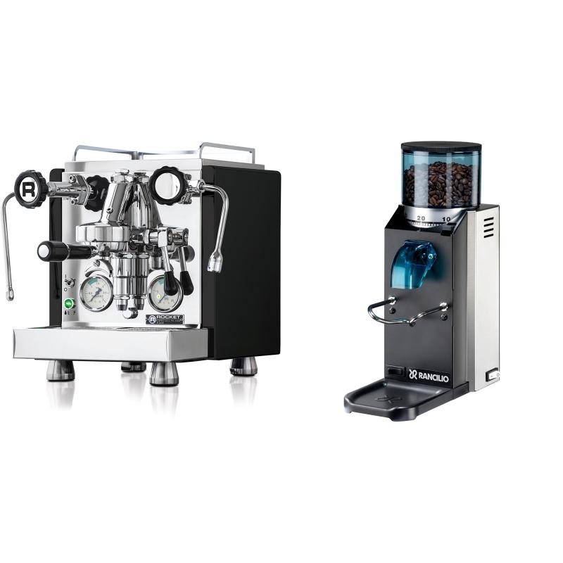Rocket Espresso R 60V, černá + Rancilio Rocky Doserless