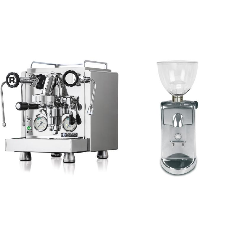 Rocket Espresso R 60V + Ascaso i-mini i1, leštěný hliník