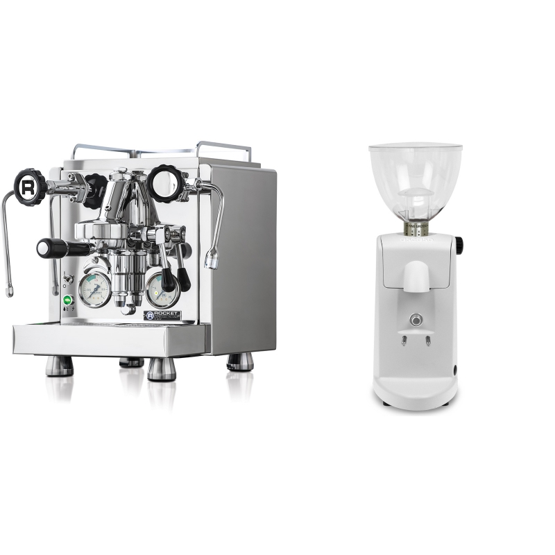 Rocket Espresso R 60V + Ascaso i-mini i1, bílá