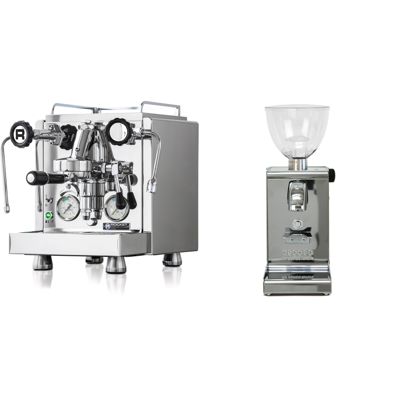 Rocket Espresso R 60V + Ascaso i-steel, lesk