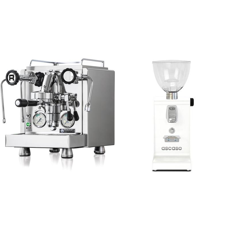 Rocket Espresso R 60V + Ascaso i-steel, bílá