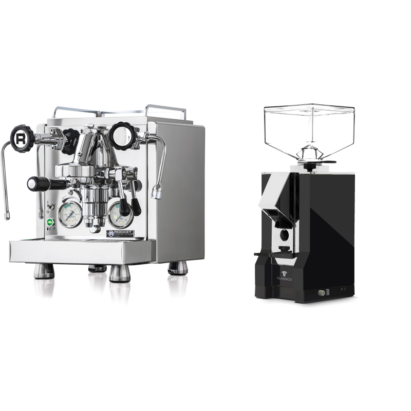 Rocket Espresso R 60V + Eureka Mignon Classico, CR black