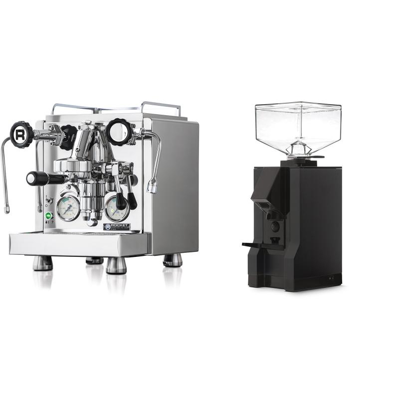 Rocket Espresso R 60V + Eureka Mignon Manuale, BL black