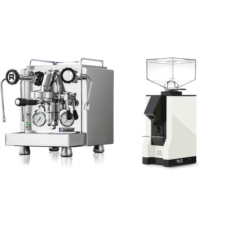Rocket Espresso R 60V + Eureka Mignon Silenzio, BL white