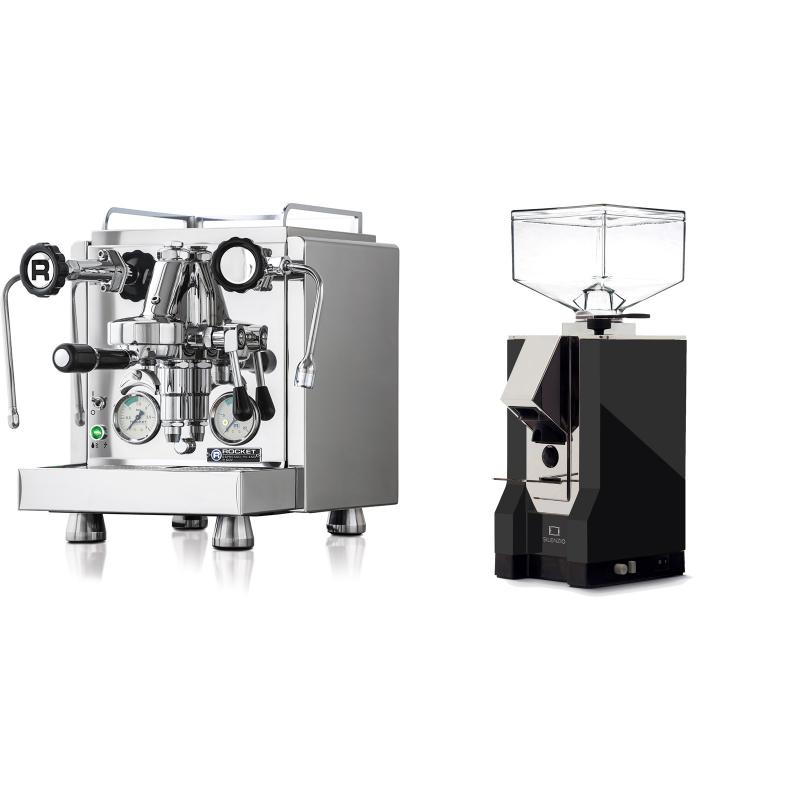 Rocket Espresso R 60V + Eureka Mignon Silenzio, CR black