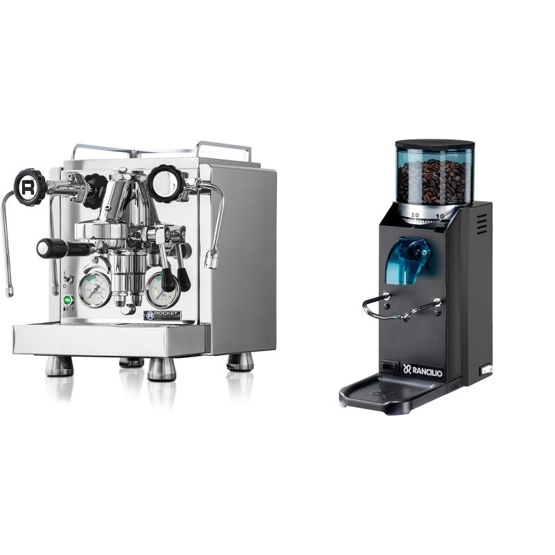 Rocket Espresso R 60V + Rancilio Rocky Doserless, černá