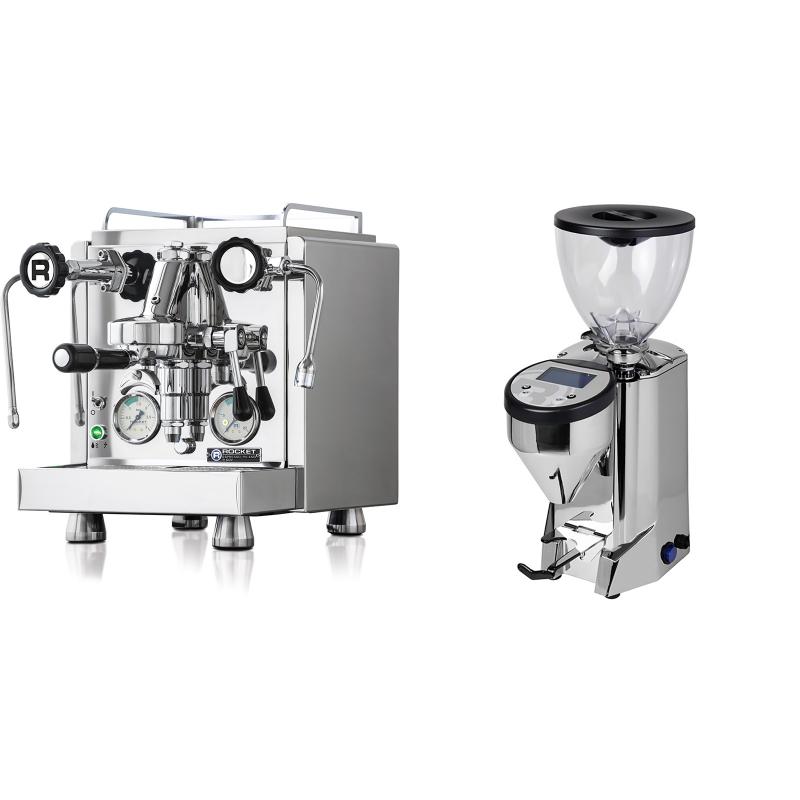 Rocket Espresso R 60V + Rocket Espresso FAUSTO, nerez