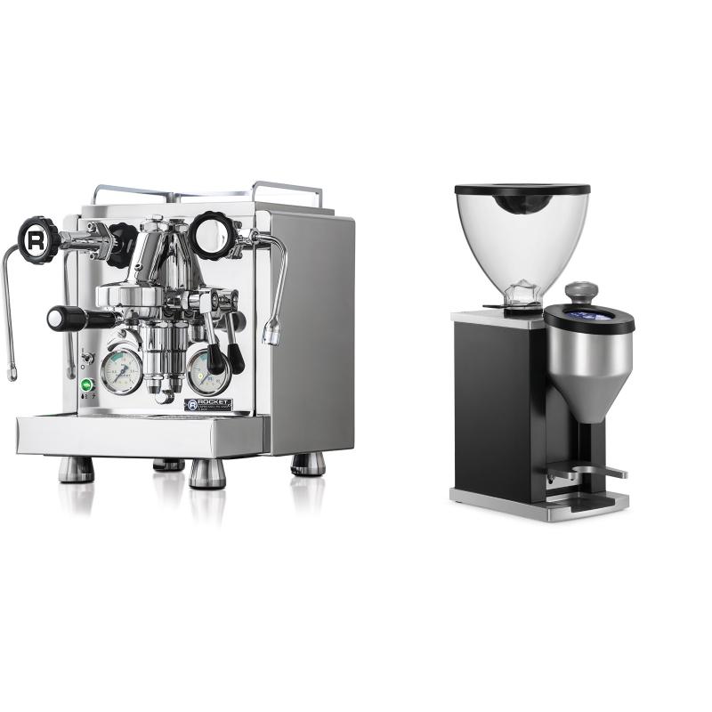 Rocket Espresso R 60V + Rocket Espresso FAUSTINO, black