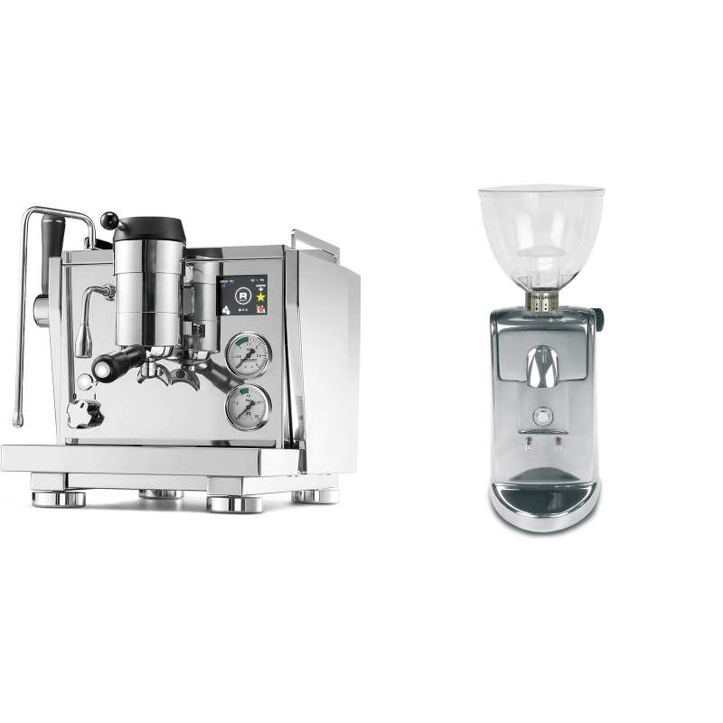 Rocket Espresso R NINE ONE + Ascaso i-mini i1, leštěný hliník