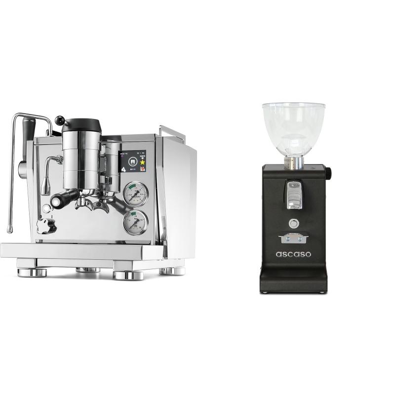 Rocket Espresso R NINE ONE + Ascaso i-steel, černá