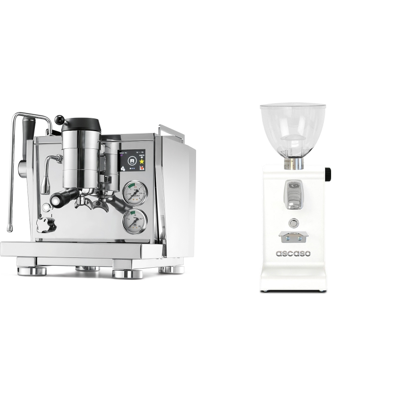 Rocket Espresso R NINE ONE + Ascaso i-steel, bílá