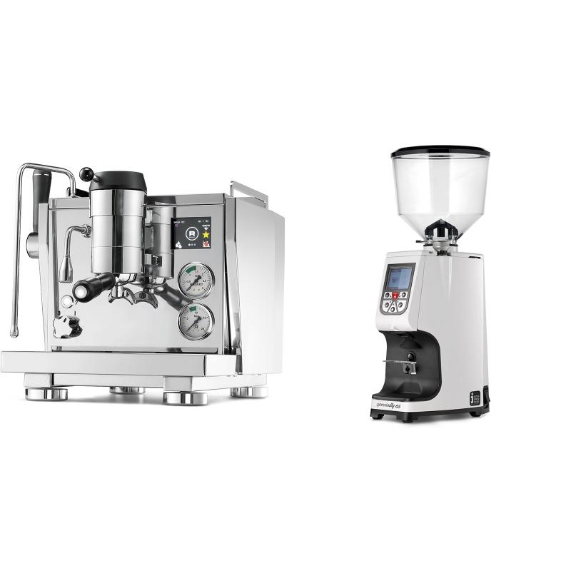 Rocket Espresso R NINE ONE + Eureka Atom Specialty 65, white