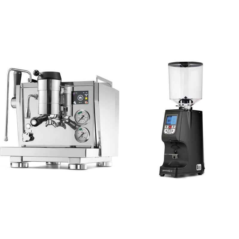 Rocket Espresso R NINE ONE + Eureka Atom Specialty 75, black