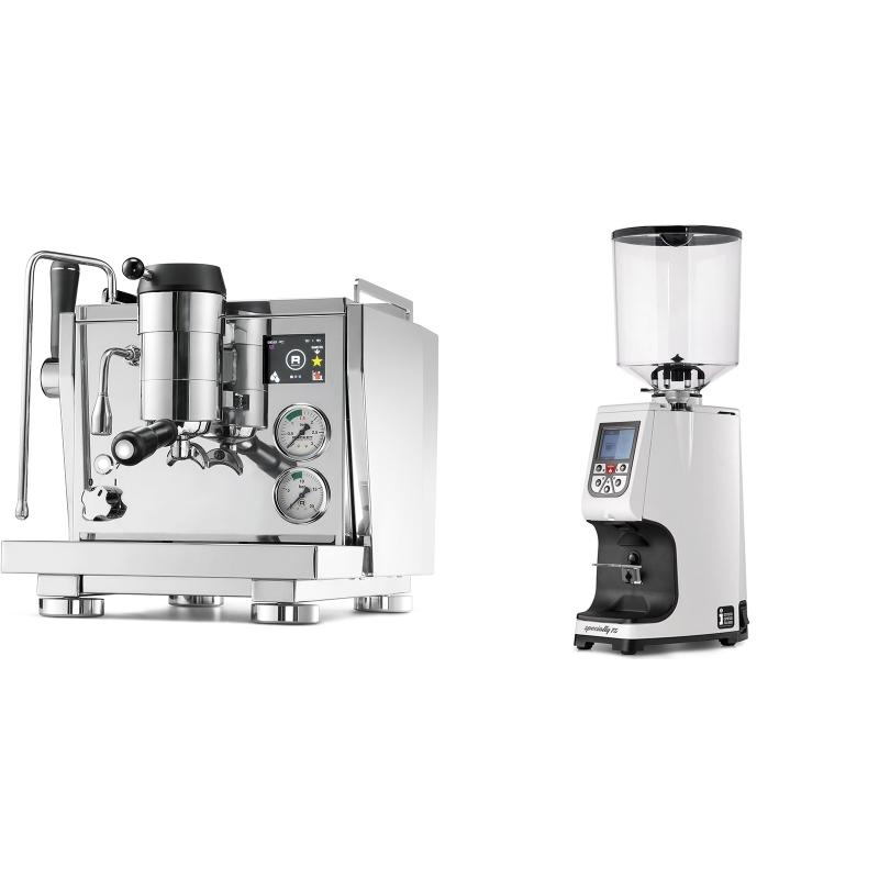 Rocket Espresso R NINE ONE + Eureka Atom Specialty 75, white