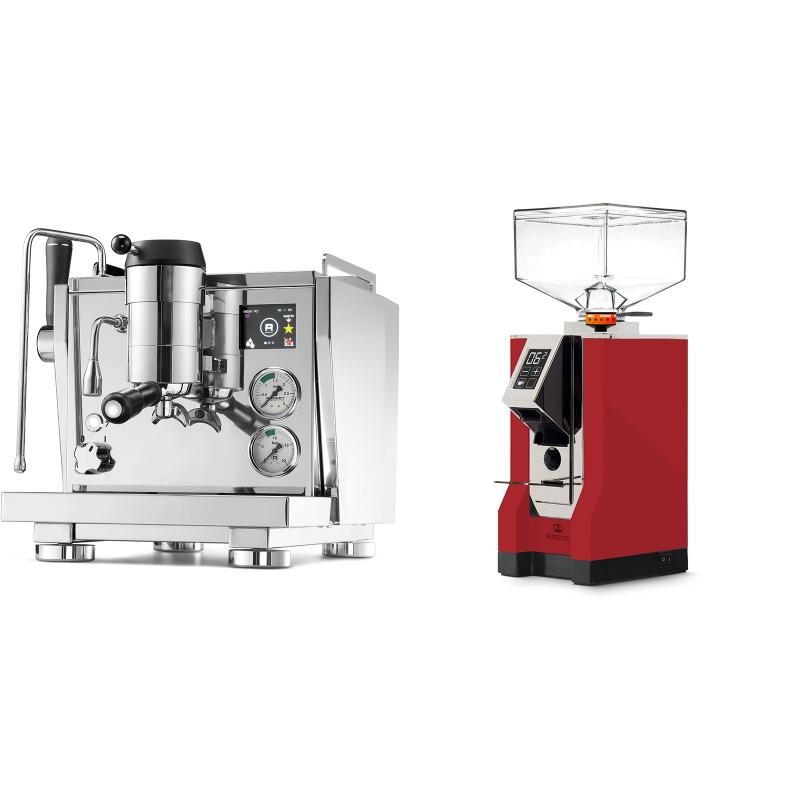Rocket Espresso R NINE ONE + Eureka Mignon Perfetto, CR ferrari red