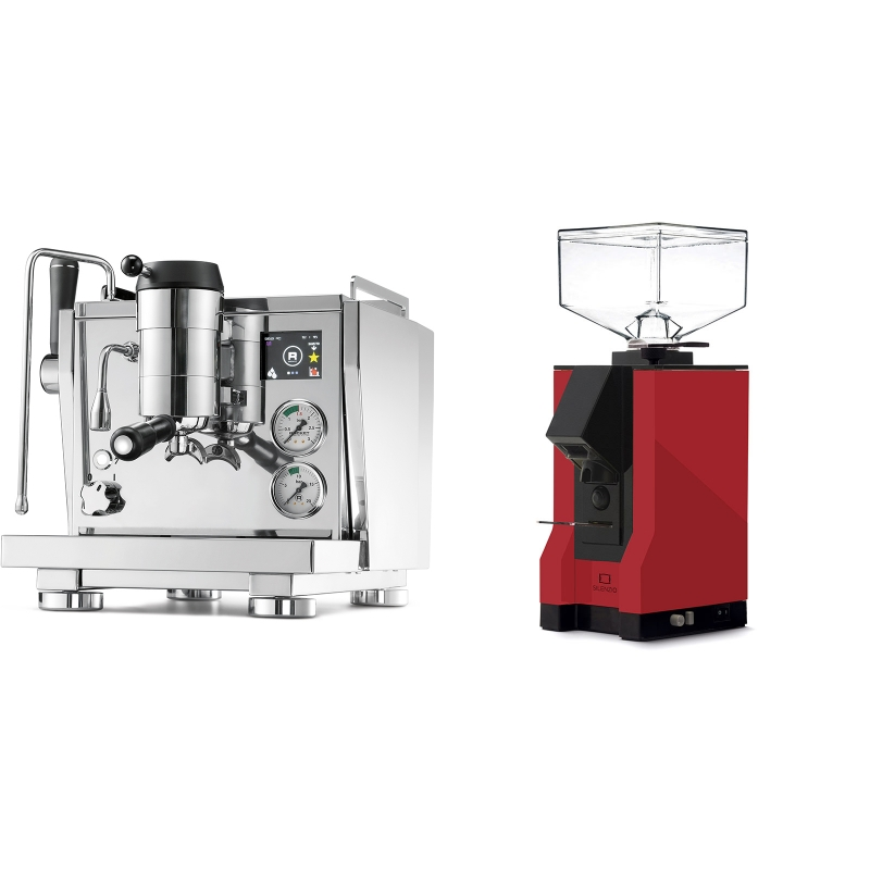Rocket Espresso R NINE ONE + Eureka Mignon Silenzio, BL ferrari red