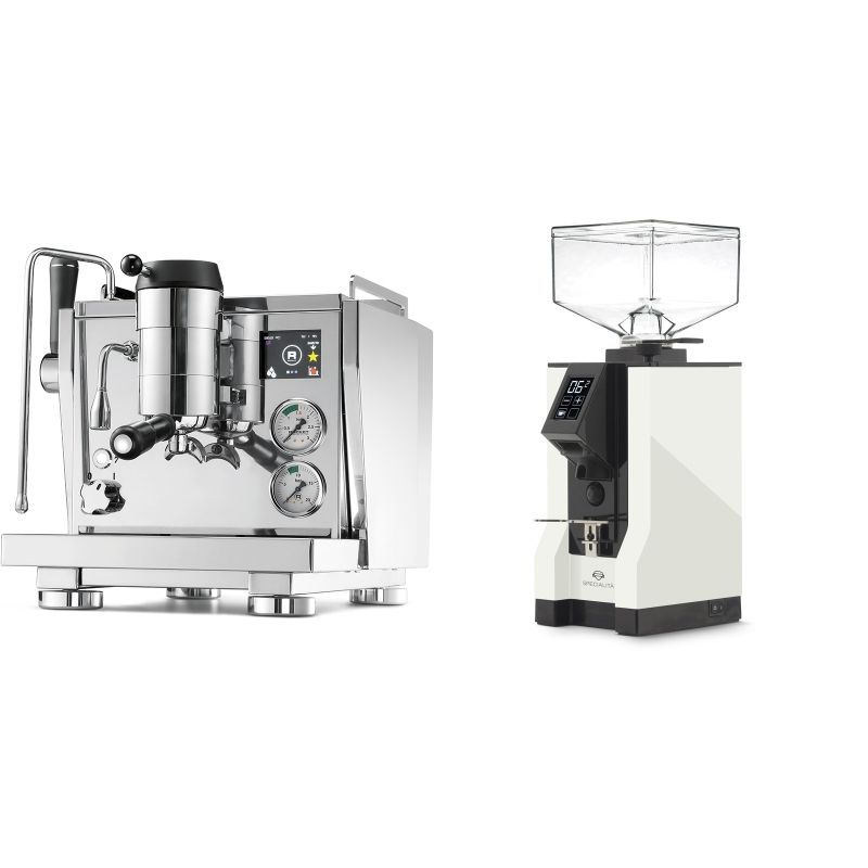 Rocket Espresso R NINE ONE + Eureka Mignon Specialita, BL white