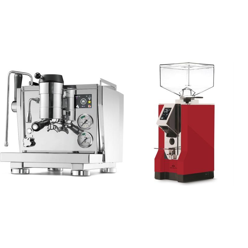 Rocket Espresso R NINE ONE + Eureka Mignon Specialita, CR ferrari red