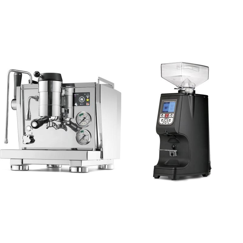 Rocket Espresso R NINE ONE + Eureka Atom 60, black