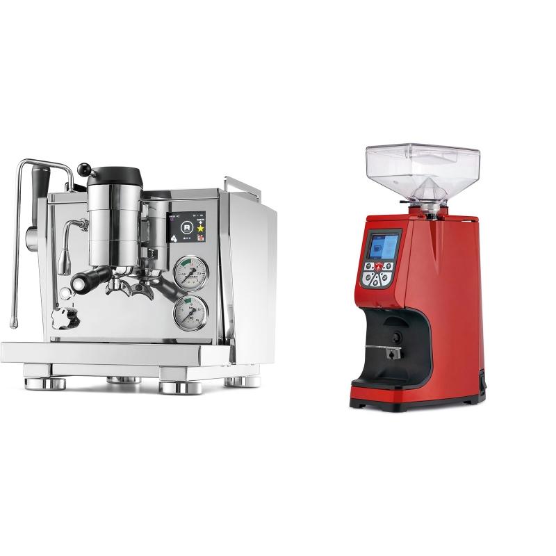 Rocket Espresso R NINE ONE + Eureka Atom 60, ferrari red