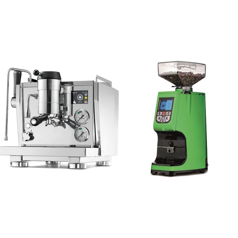 Rocket Espresso R NINE ONE + Eureka Atom 60, kawasaki green