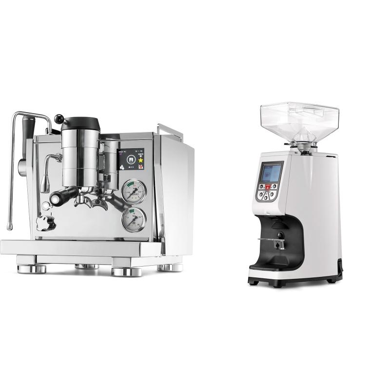 Rocket Espresso R NINE ONE + Eureka Atom 60, white