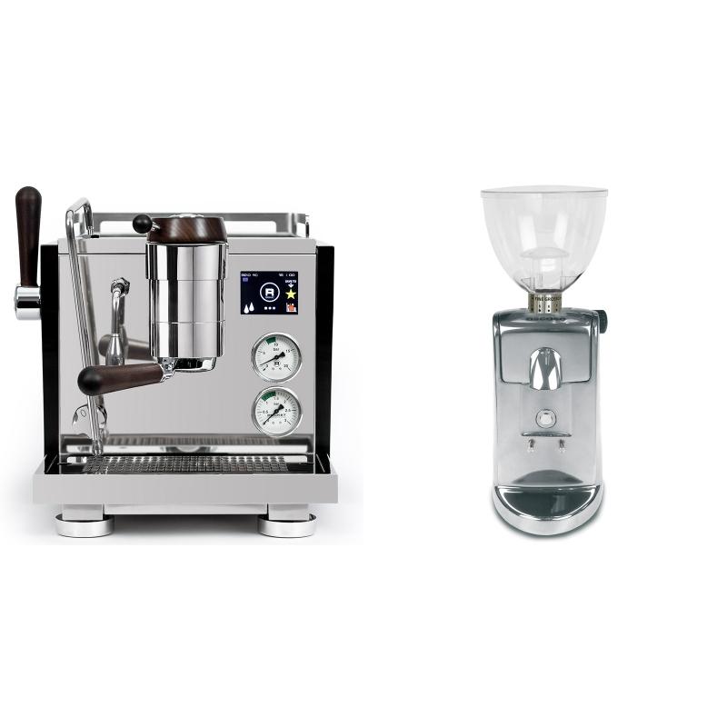 Rocket Espresso R NINE ONE Edizione Speciale + Ascaso i-mini i1, leštěný hliník