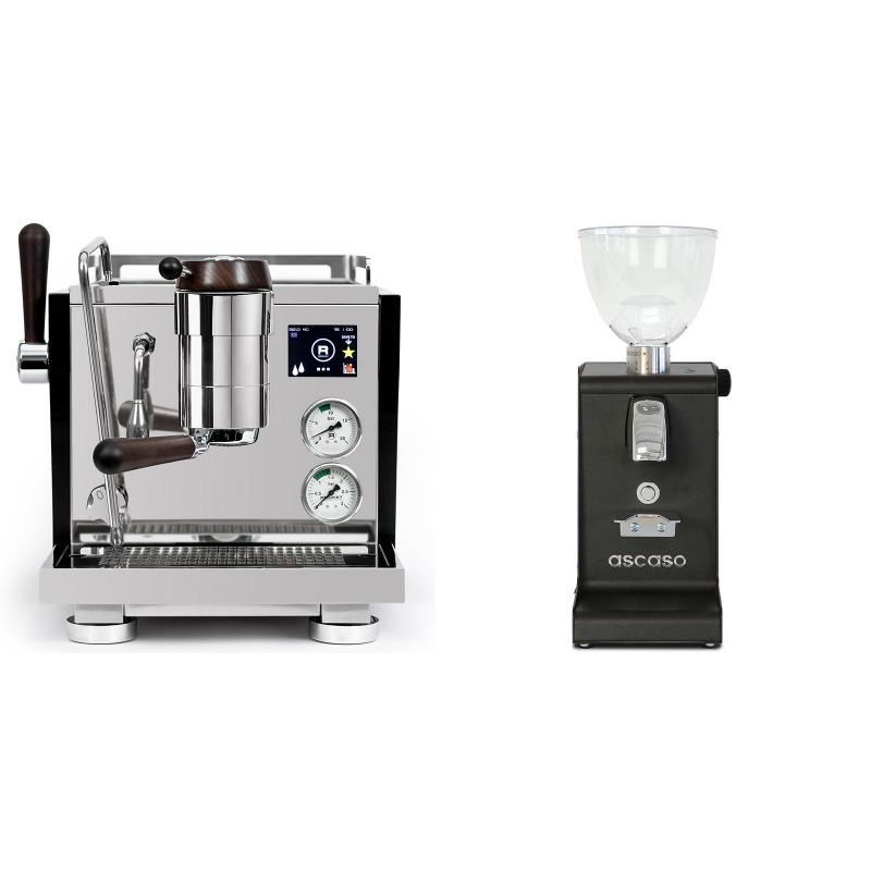 Rocket Espresso R NINE ONE Edizione Speciale + Ascaso i-steel, černá