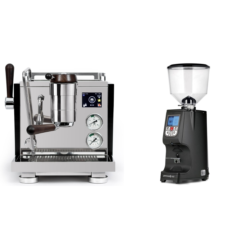 Rocket Espresso R NINE ONE Edizione Speciale + Eureka Atom Specialty 65, black