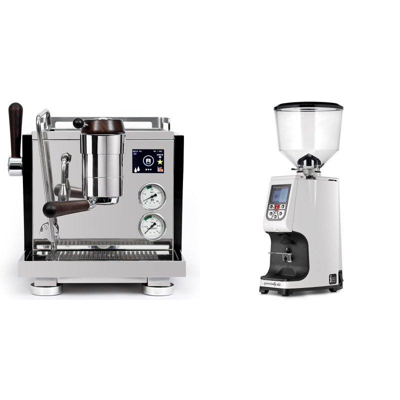 Rocket Espresso R NINE ONE Edizione Speciale + Eureka Atom Specialty 65, white