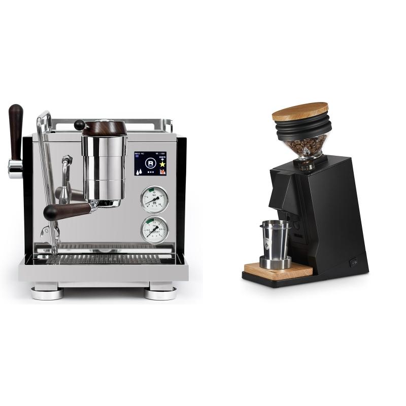 Rocket Espresso R NINE ONE Edizione Speciale + Eureka Mignon Single Dose, Black & Oak