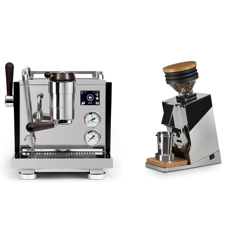 Rocket Espresso R NINE ONE Edizione Speciale + Eureka Mignon Single Dose, Chrome & Oak