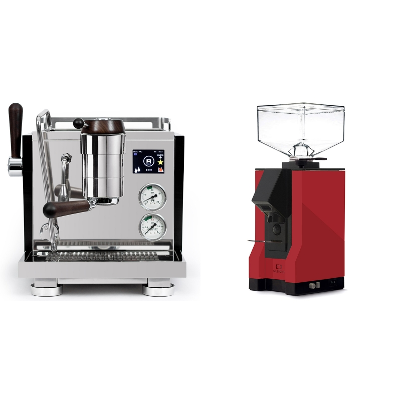 Rocket Espresso R NINE ONE Edizione Speciale + Eureka Mignon Silenzio, BL ferrari red