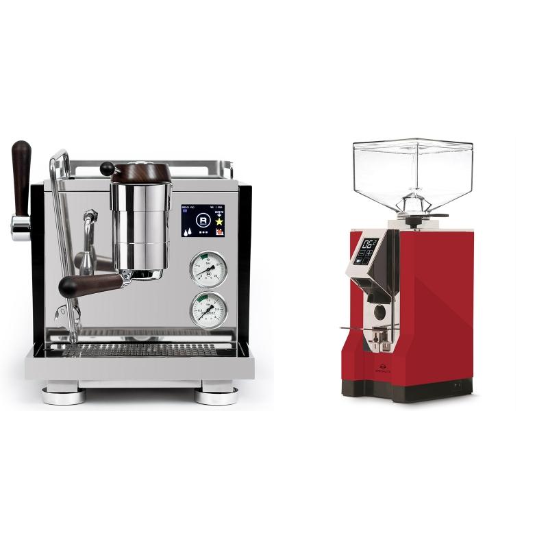 Rocket Espresso R NINE ONE Edizione Speciale + Eureka Mignon Specialita, CR ferrari red
