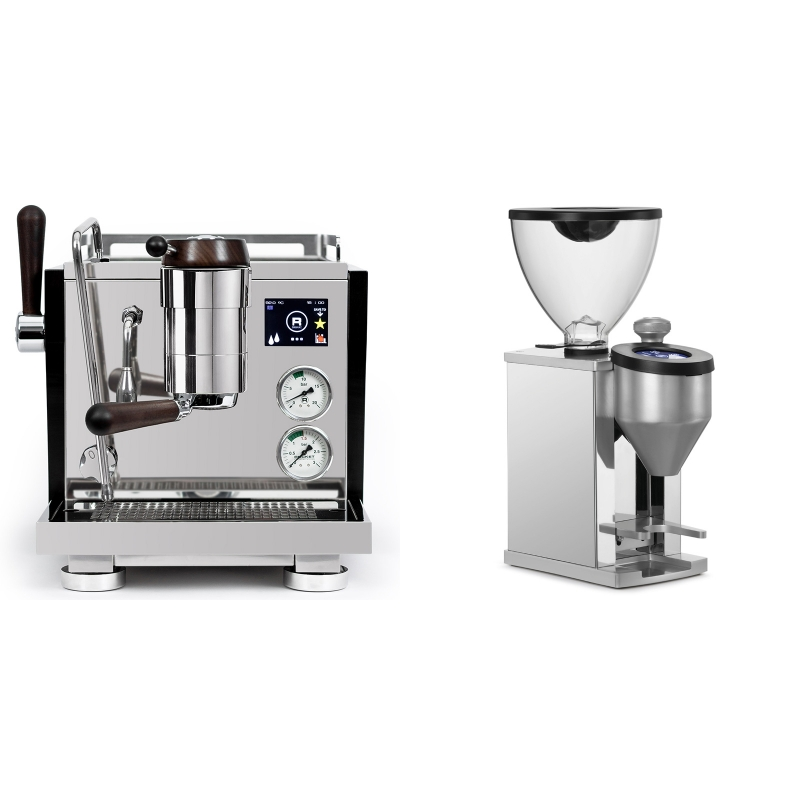 Rocket Espresso R NINE ONE Edizione Speciale + Rocket Espresso FAUSTINO, chrome