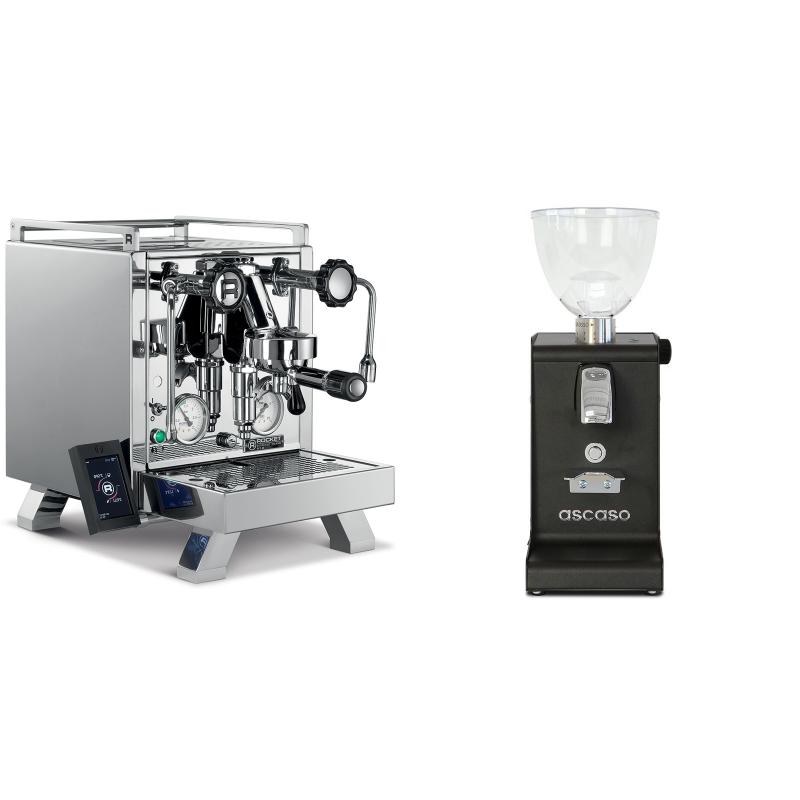 Rocket Espresso R 58 Cinquantotto + Ascaso i-steel, černá