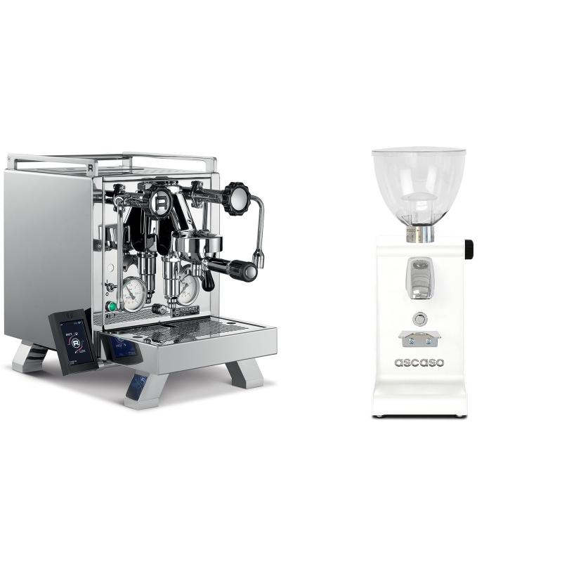 Rocket Espresso R 58 Cinquantotto + Ascaso i-steel, bílá