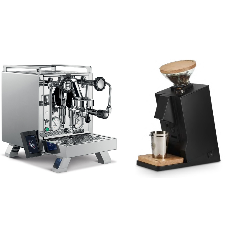 Rocket Espresso R 58 Cinquantotto + Eureka Mignon Single Dose, Black & Oak