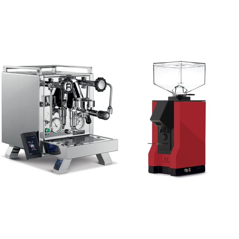 Rocket Espresso R 58 Cinquantotto + Eureka Mignon Silenzio, BL ferrari red
