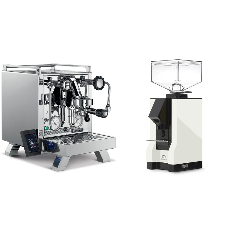 Rocket Espresso R 58 Cinquantotto + Eureka Mignon Silenzio, BL white