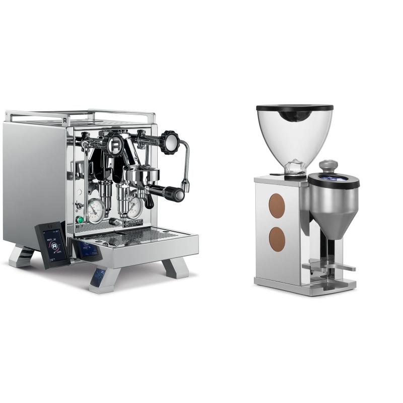 Rocket Espresso R 58 Cinquantotto + Rocket Espresso FAUSTINO, copper