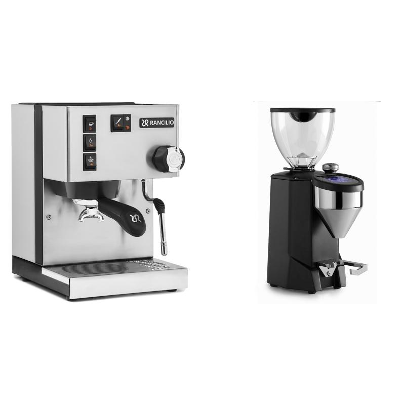 Rancilio Silvia BC + Rocket Espresso FAUSTO 2.1, black