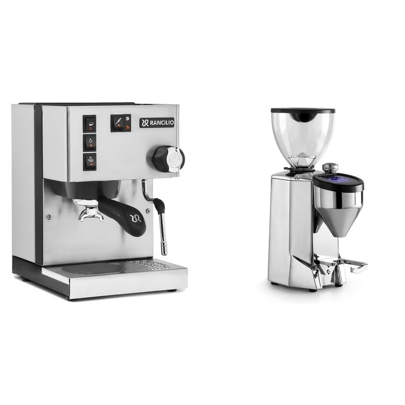 Rancilio Silvia BC + Rocket Espresso FAUSTO 2.1, chrome