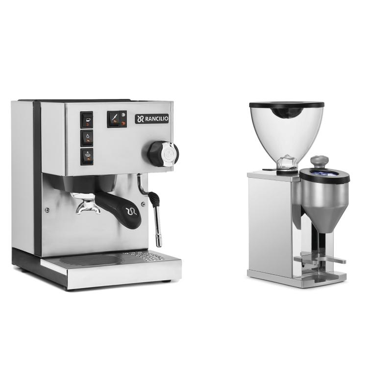 Rancilio Silvia BC + Rocket Espresso FAUSTINO, chrome
