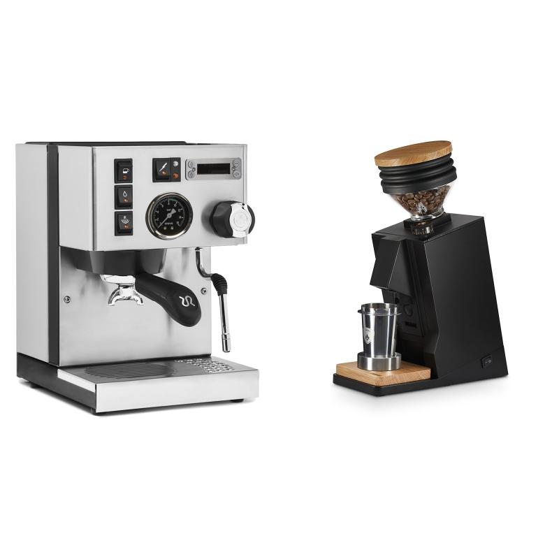 Rancilio Silvia PID Buna café edice + Eureka Mignon Single Dose, Black & Oak