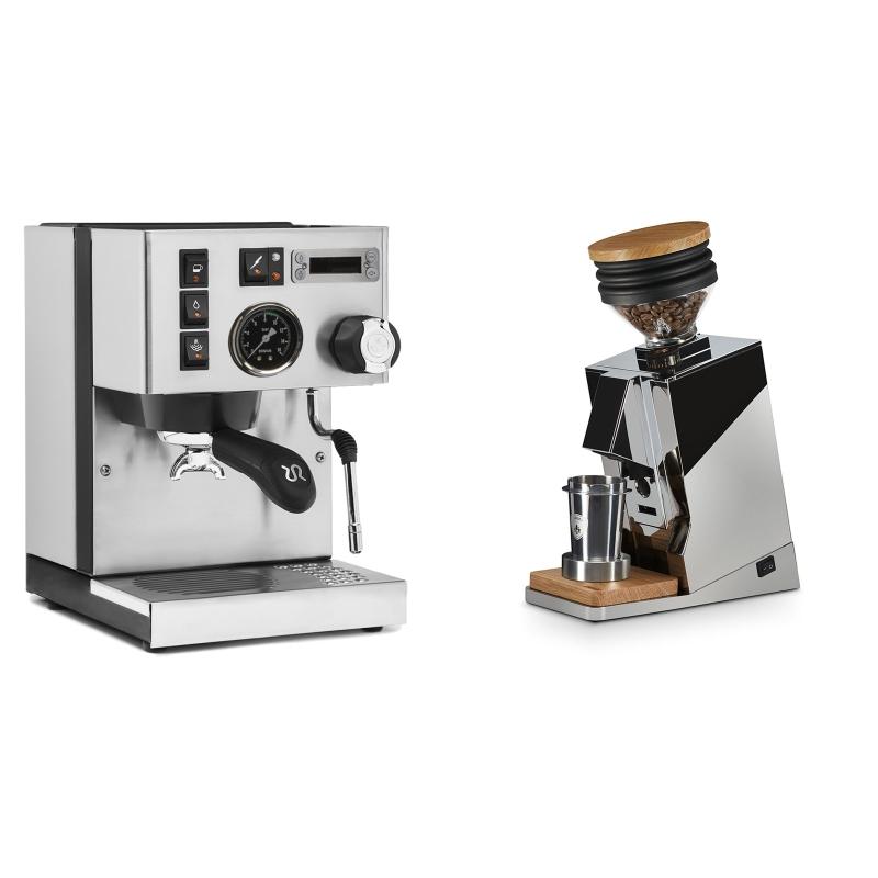 Rancilio Silvia PID Buna café edice + Eureka Mignon Single Dose, Chrome & Oak